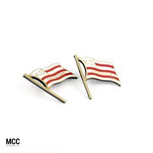 Odznaka sportowa wyprodukowana przez producenta - firmę MCC Medale