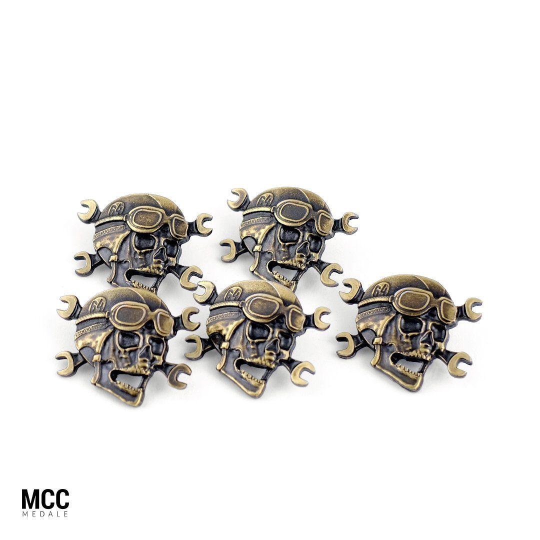 Przypinki na zloty motocyklowe wyprodukowane przez MCC Medale