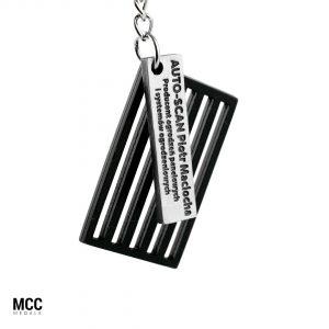 Breloczek na zlot samochodowy wyprodukowany przez MCC Medale