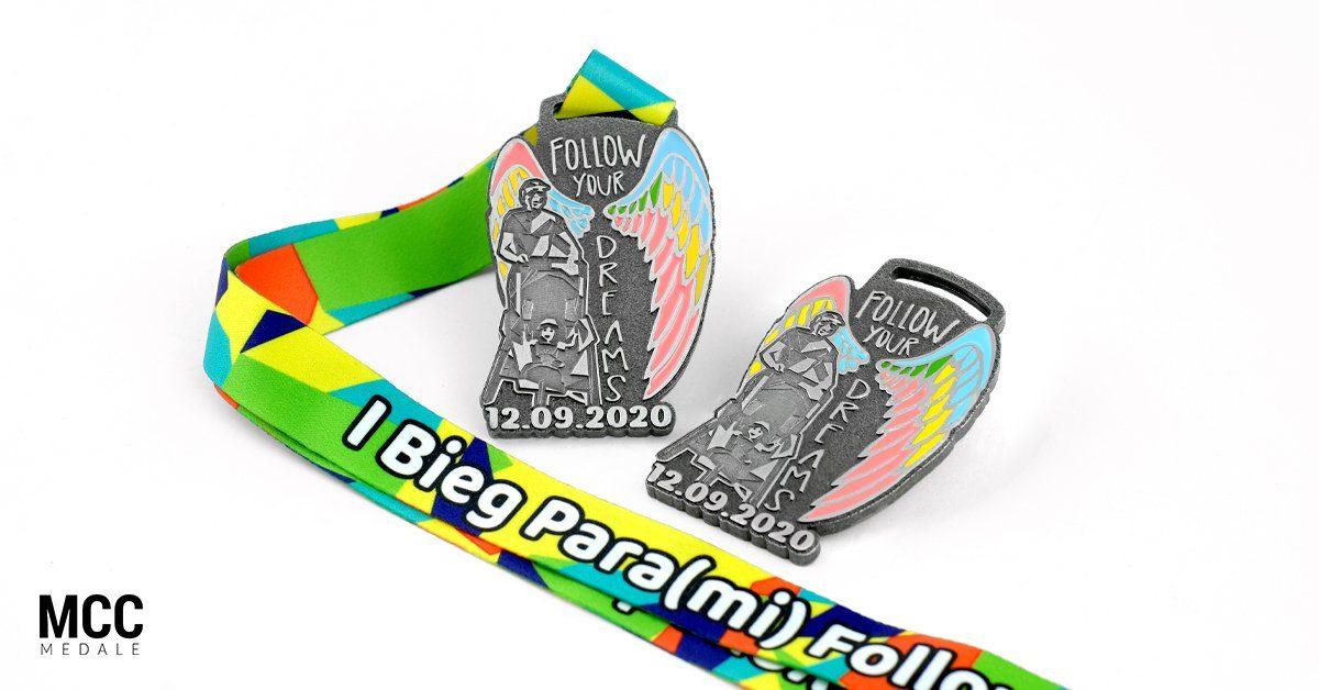 I Bieg Para(mi) - medale wyprodukowane przez MCC Medale