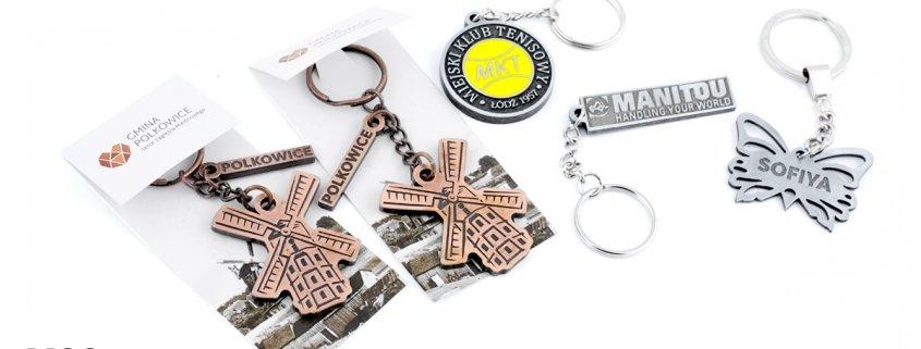 Breloki firmowe z logo - produkcja MCC Medale