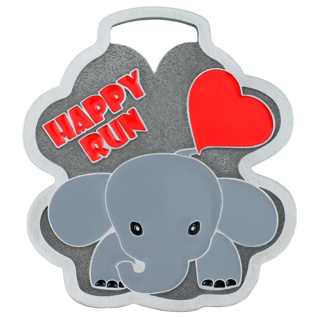 Biegowy medal dla dzieci przedstawiający słonia