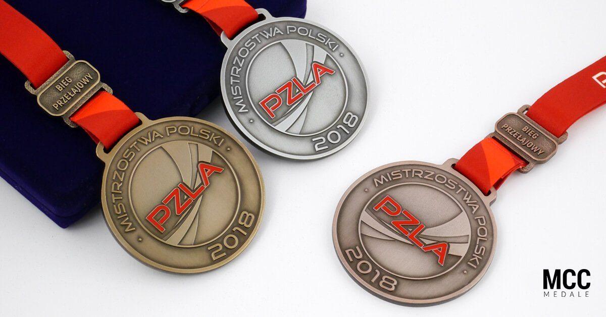 Medale sportowe dla 3 pierwszych miejsc