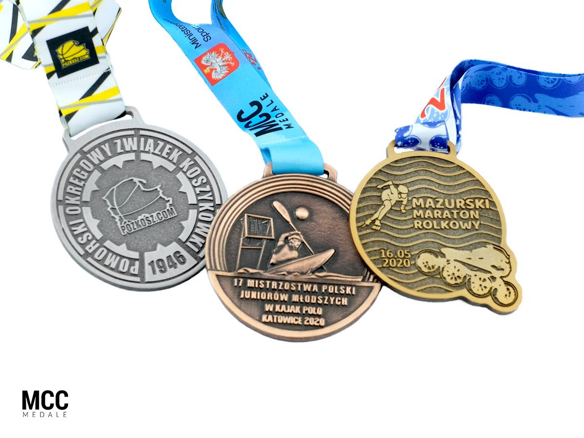 Medale sportowe reklamowe na zamówienie - producent MCC Medale