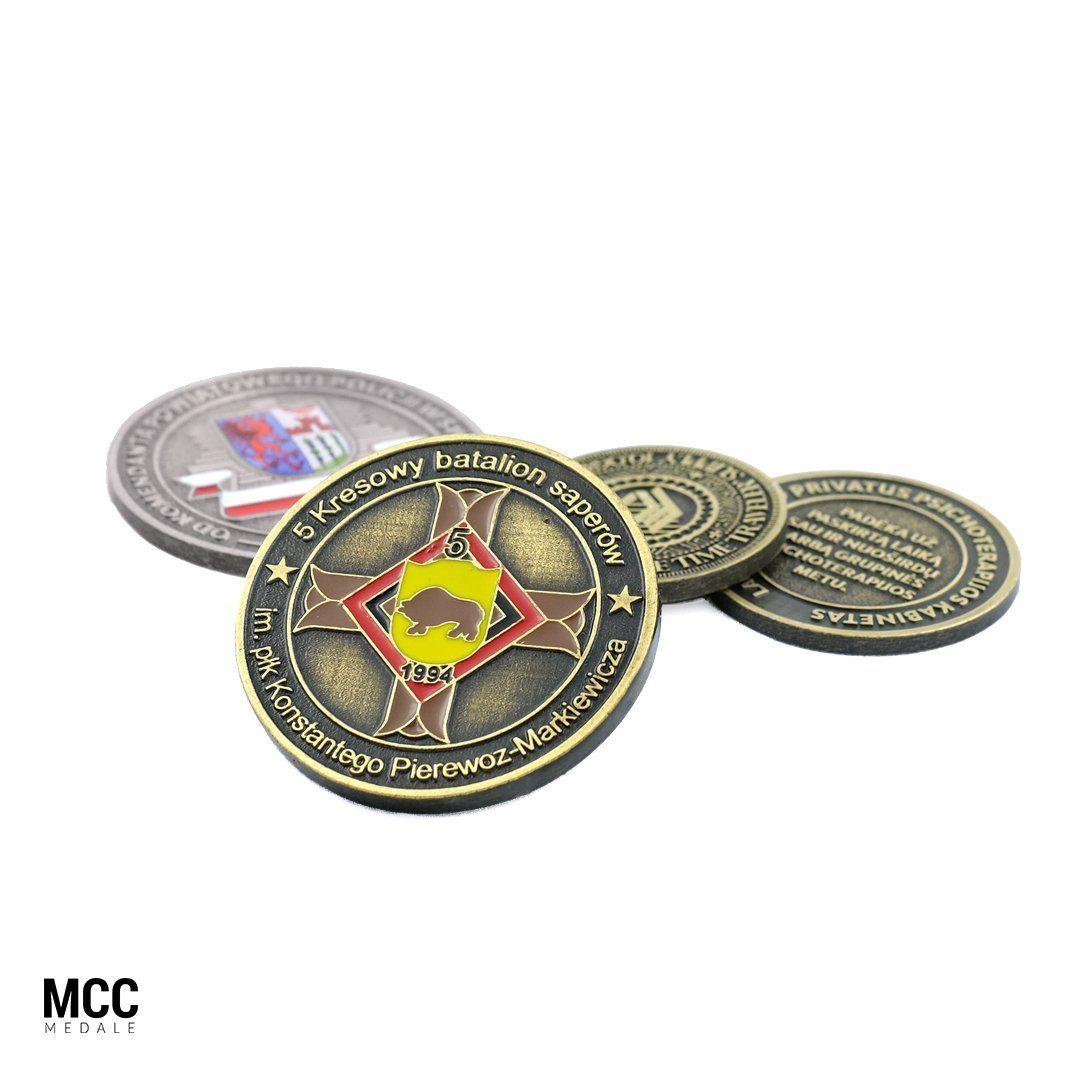 Monety jubileuszowe MCC Medale - produkcja na zamówienie