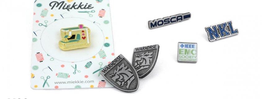 Wpinki reklamowe na zamówienie - producent MCC Medale