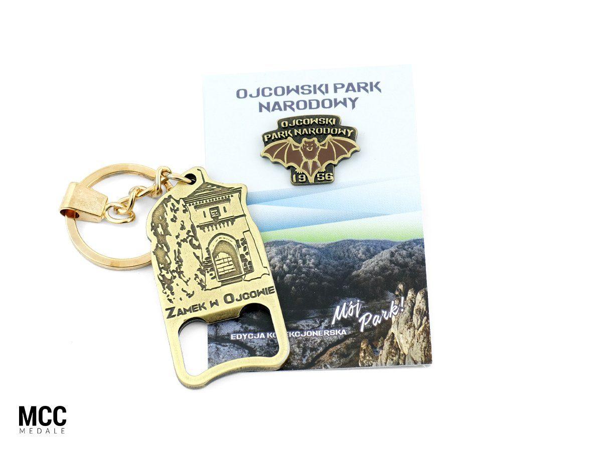 Breloki - gadżety Ojcowskiego Parku Narodowego wykonane w odlewni MCC Medale