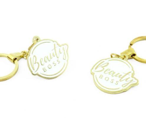 Emaliowane breloczki Beauty Boss - realizacja odlewnia MCC Medale