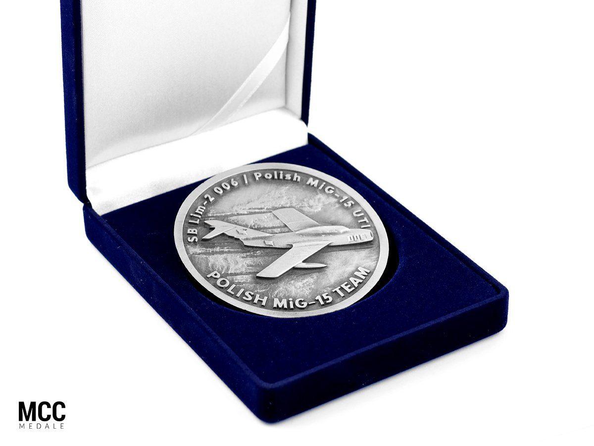 Medal Mig-15 w etui - wykonany przez odlewnię MCC Medale
