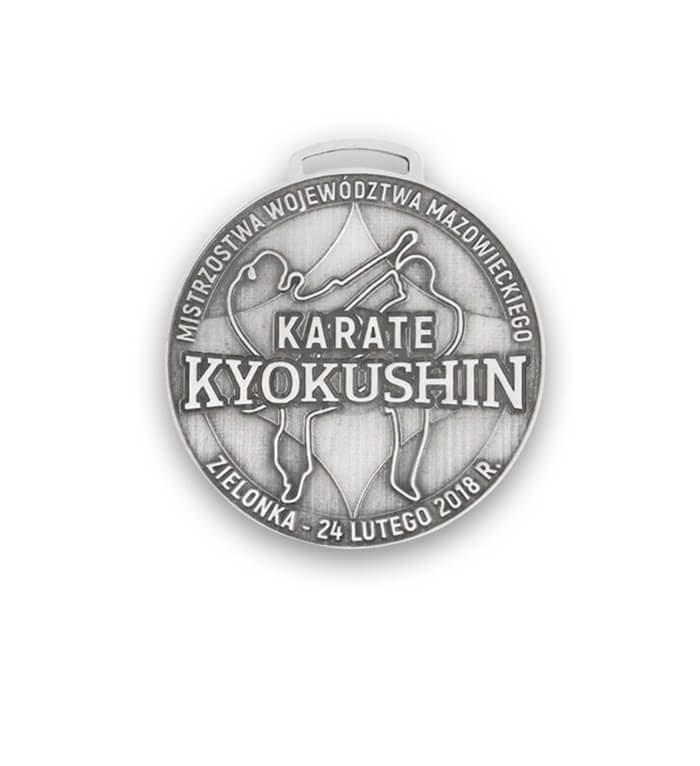 Medal karate wykonany przez MCC Medale