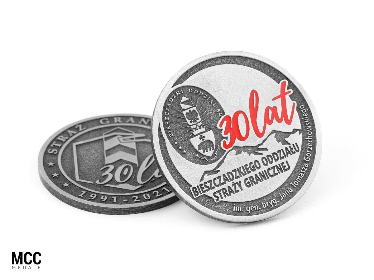 Medale na 30-lecie Straży Granicznej - realizacja MCC Medale
