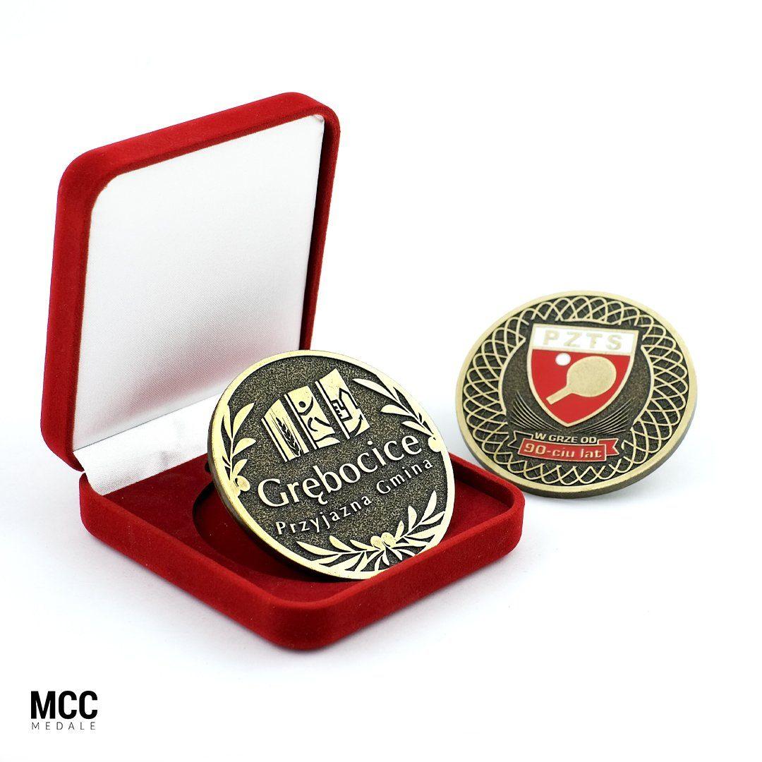 Medale biznesowe w etui - producent odlewów MCC Medale