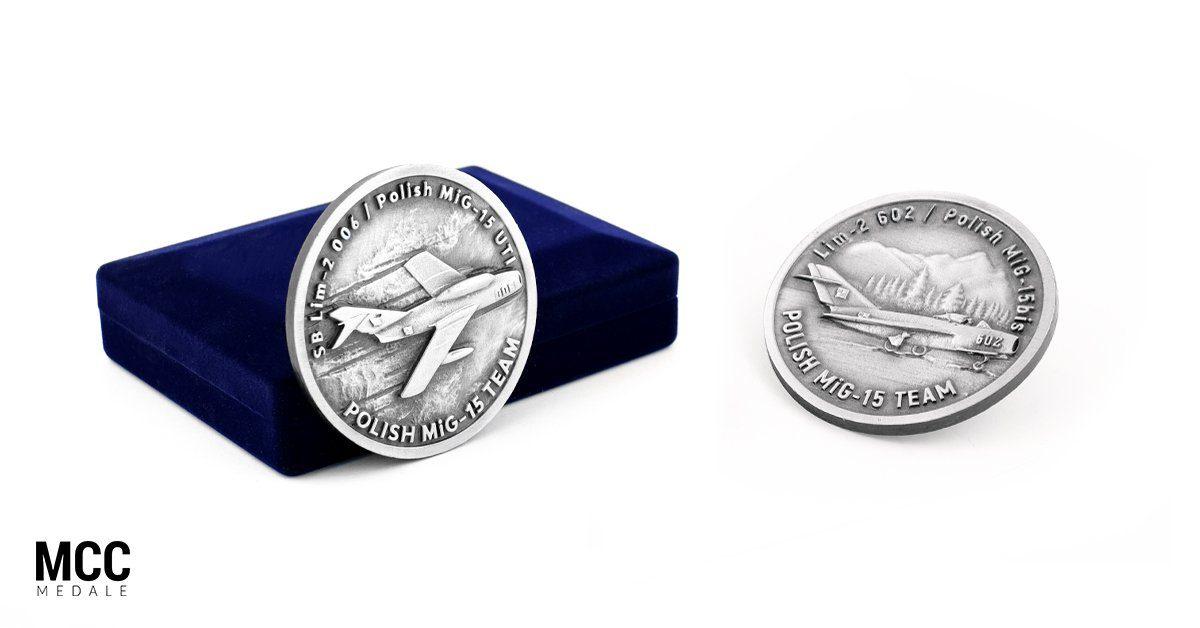 Medale MiG-15 - realizacja MCC Medale