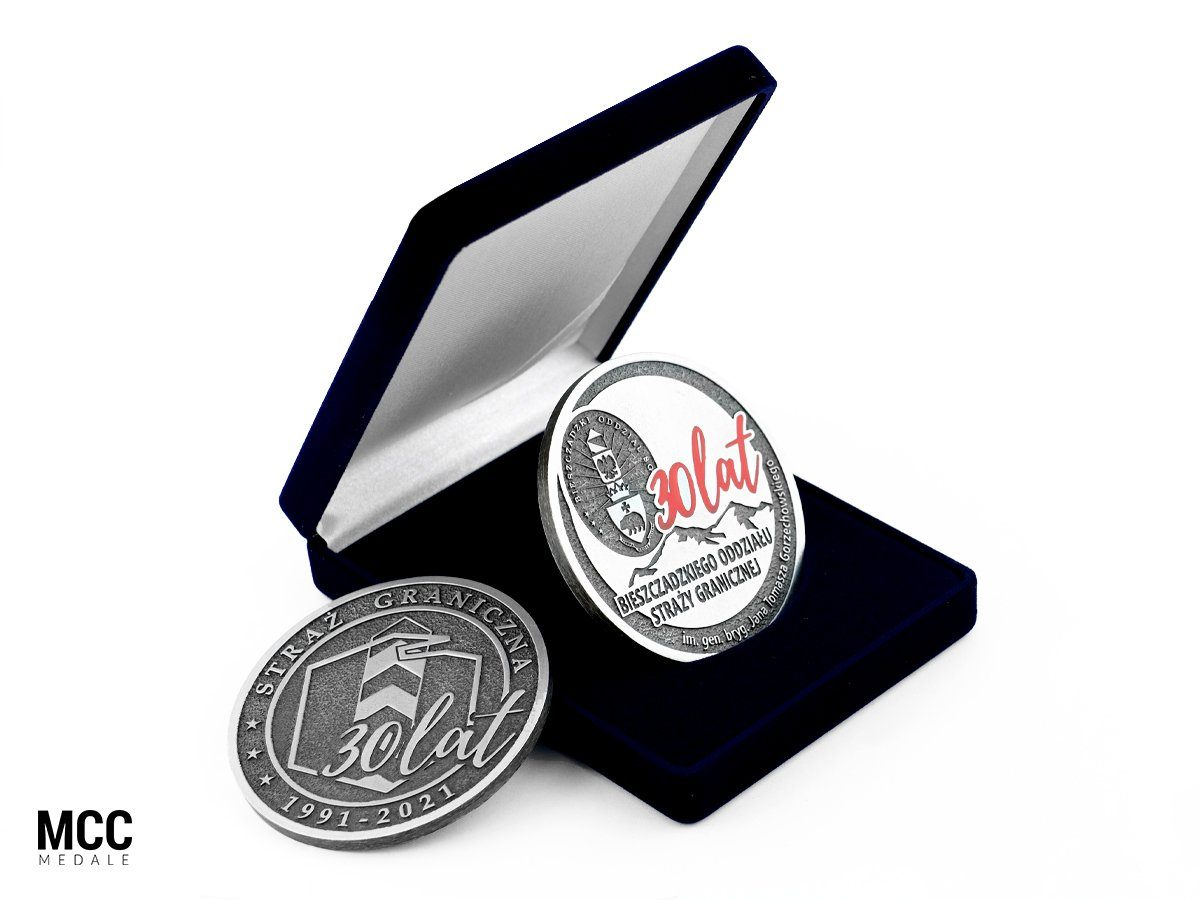 Medale Straż Graniczna wykonane w odlewni MCC Medale