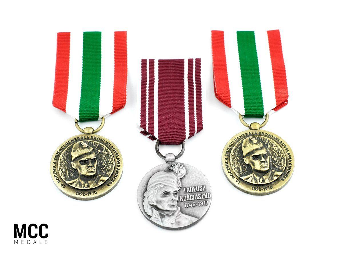 Ordery wojskowe okolicznościowe wykonane przez MCC Medale