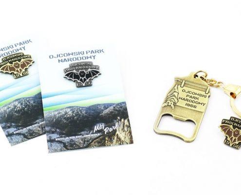 Zestaw gadżetów Ojcowskiego Parku Narodowego - produkcja MCC Medale