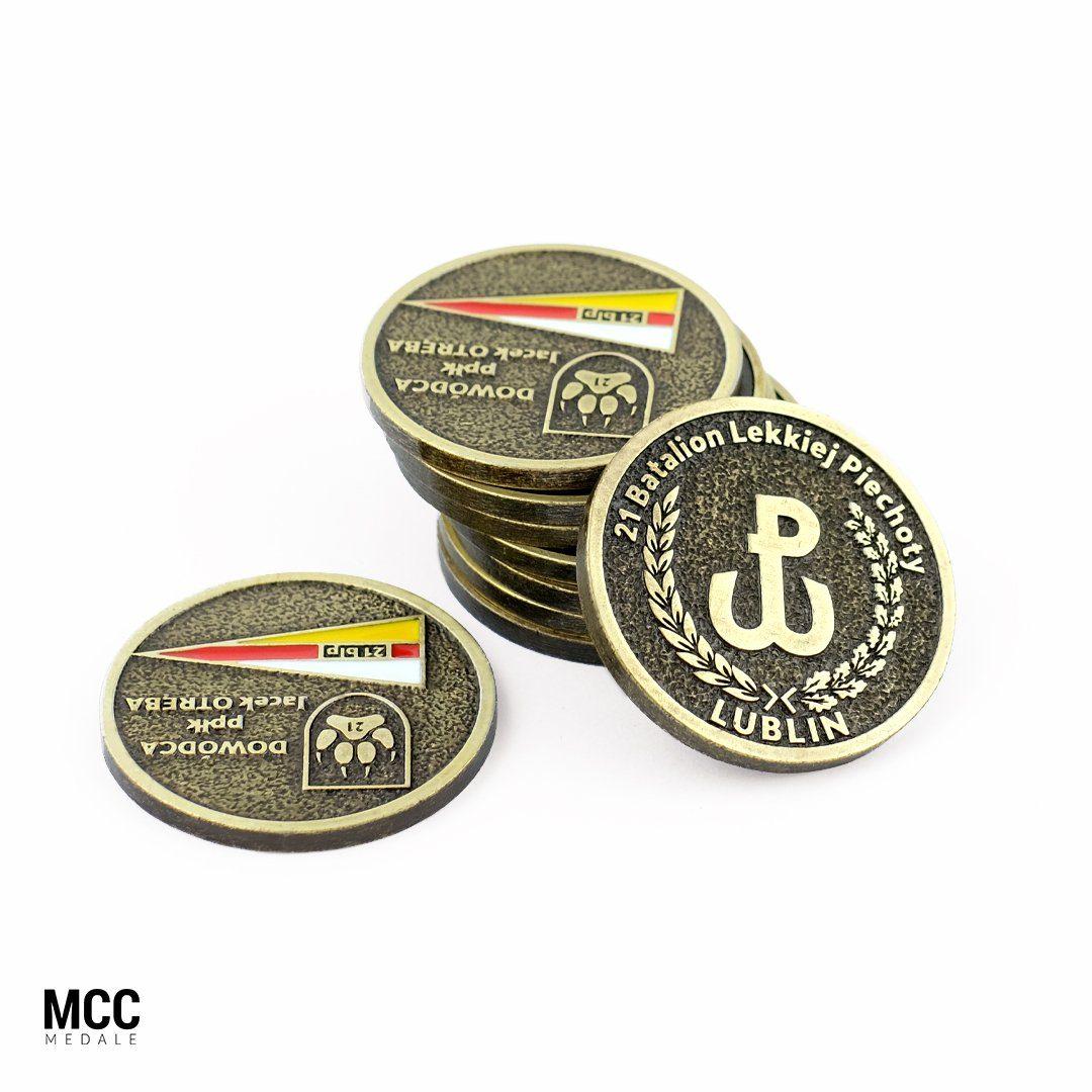 21 Batalion Lekkiej Piechoty w Lublinie - wykonawca odlewnia MCC Medale