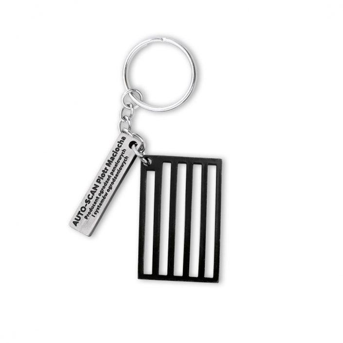 Składający się z dwóch części breloczek do kluczy