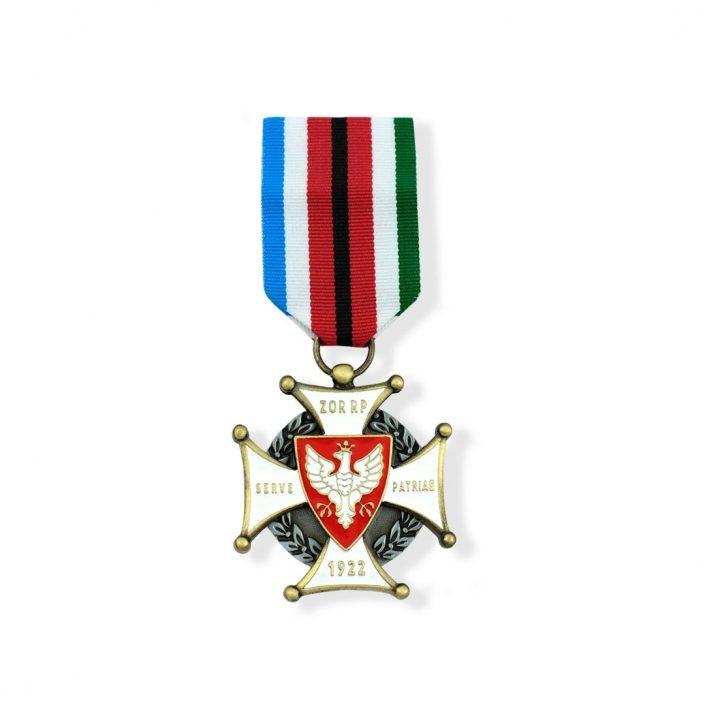 Pamiątkowy order w kształcie krzyża z motywem orła białego