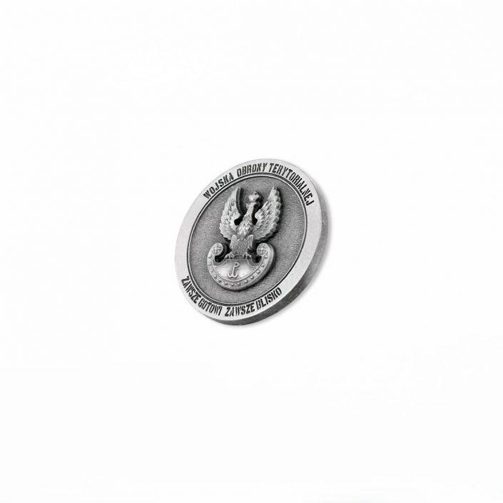 Odlewany coin w kolorze srebrnym dla Wojsk Obrony Terytorialnej