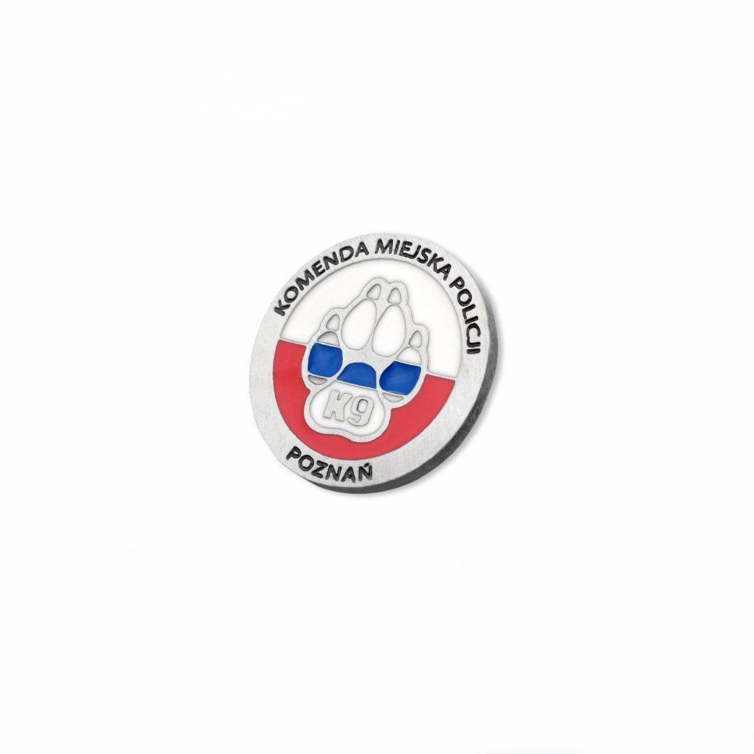 Emaliowana moneta pamiątkowa z motywem psiej łapy