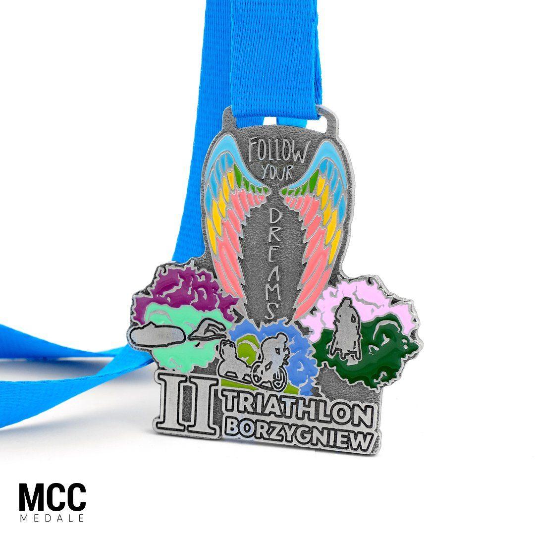 Medale na II Follow Your Dreams Triathlon w Borzygniewie - MCC Medale