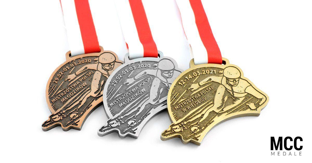 Medale dla PZŁS wykonane przez producenta - firmę MCC Medale