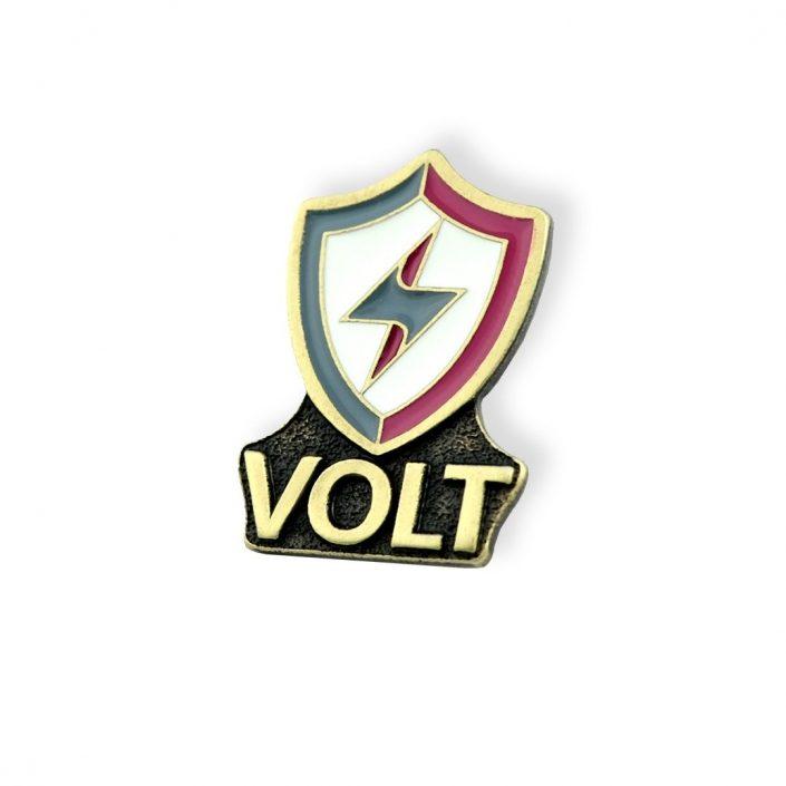 Pins firmowy kolorowy VOLT — wyprodukowane przez MCC Medale
