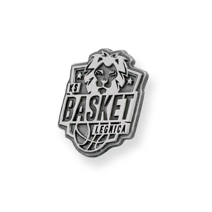 Klasyczny pins koszykarski Basket Legnica