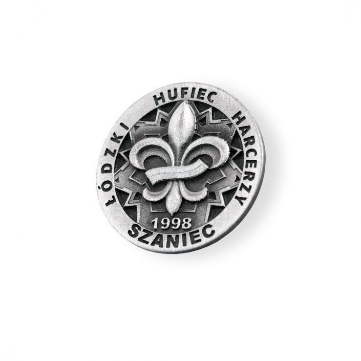 Przypinka wyprodukowana przez MCC Medale dla hufca harcerskiego