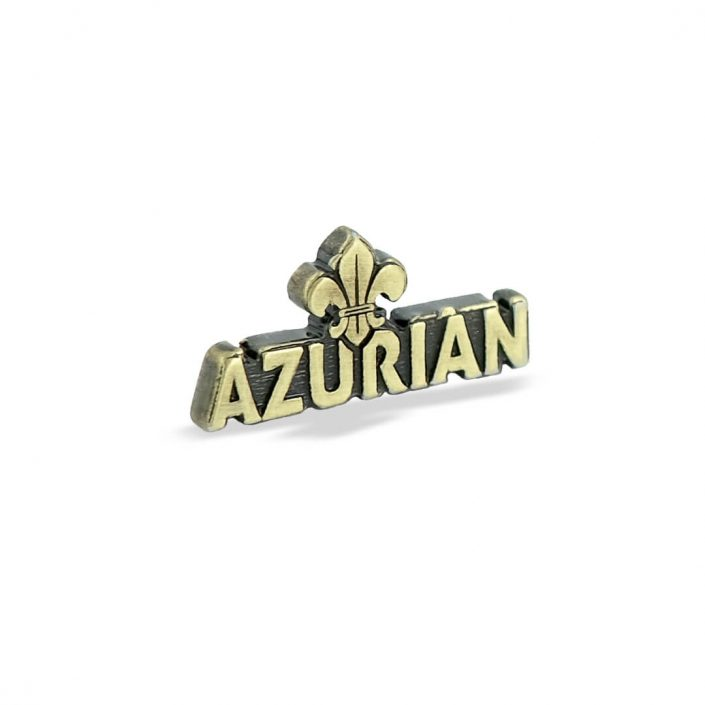 Klasyczna przypinka reklamowa - Azurian