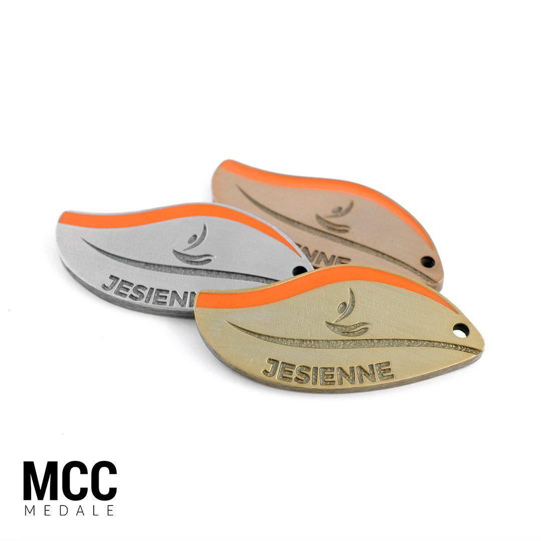 Jesienne Wielkopolskie Rozgrywki Pływackie - medal dwuczęściowy wyprodukowany przez MCC Medale