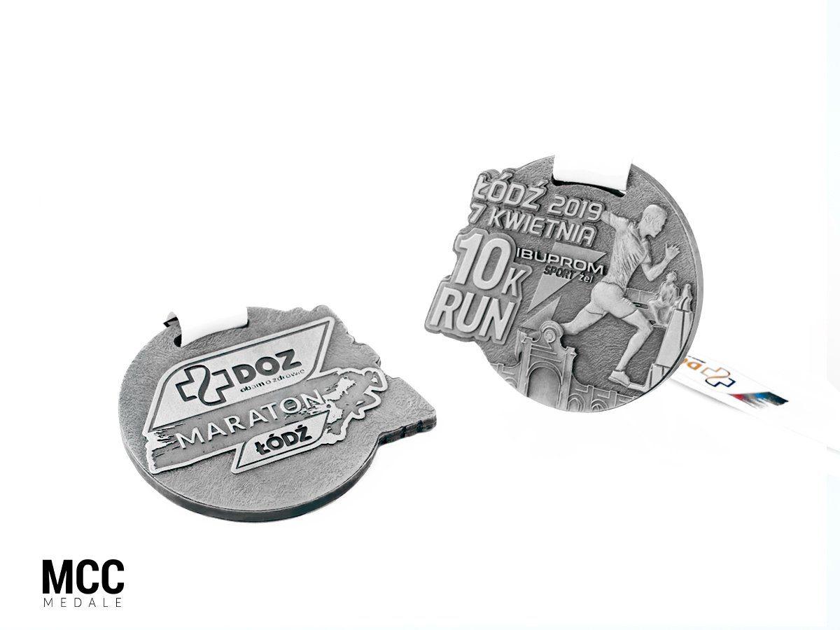 Medale na biegi uliczne na 10 km wyprodukowane przez MCC Medale