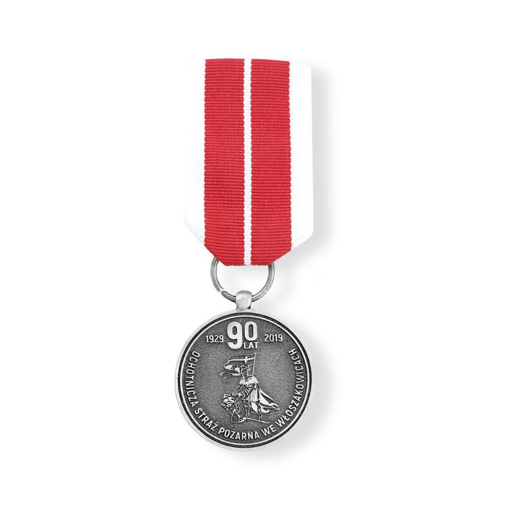 Klasyczny order na biało czerwonej wstążce z motywem św. Jerzego