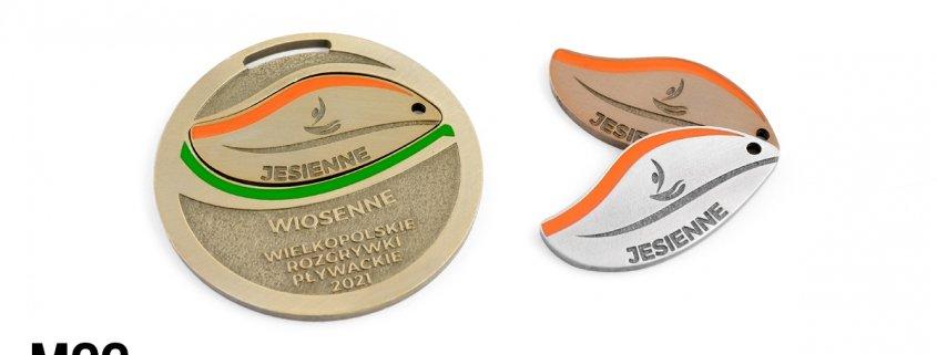 Wielkopolskie Rozgrywki Pływackie - medale wyprodukowane przez odlewnię MCC Medale